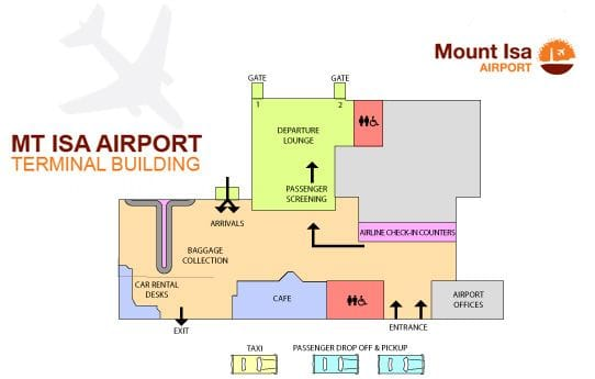 Mount Isa Airport map