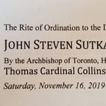 John Sutka's Rite of Ordination to the Diaconate - November 16, 2019