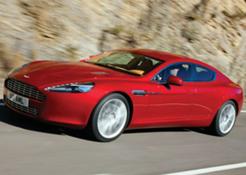 ASTON MARTIN RAPIDE ON THE MOVE