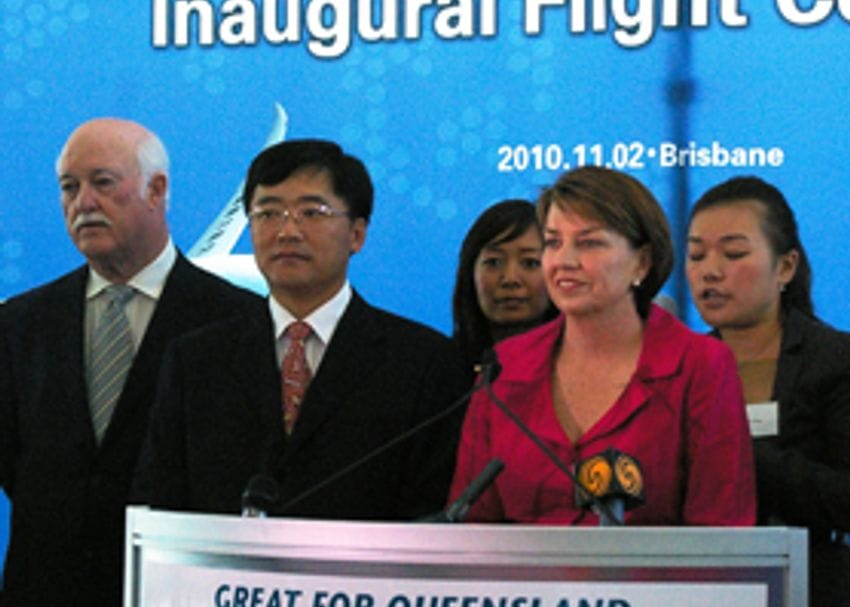 BRISBANE AND CHINA LINKED WITH NEW ROUTE