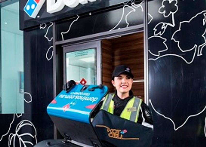 DOMINO'S DEVELOPS NEW TRACKING TECHNOLOGY