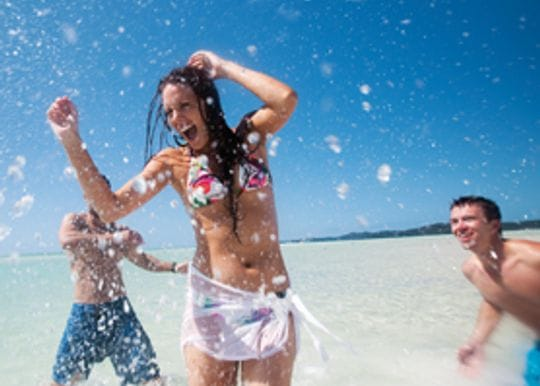 TOURISTS CASHED UP AND HEADING FOR AUSTRALIA