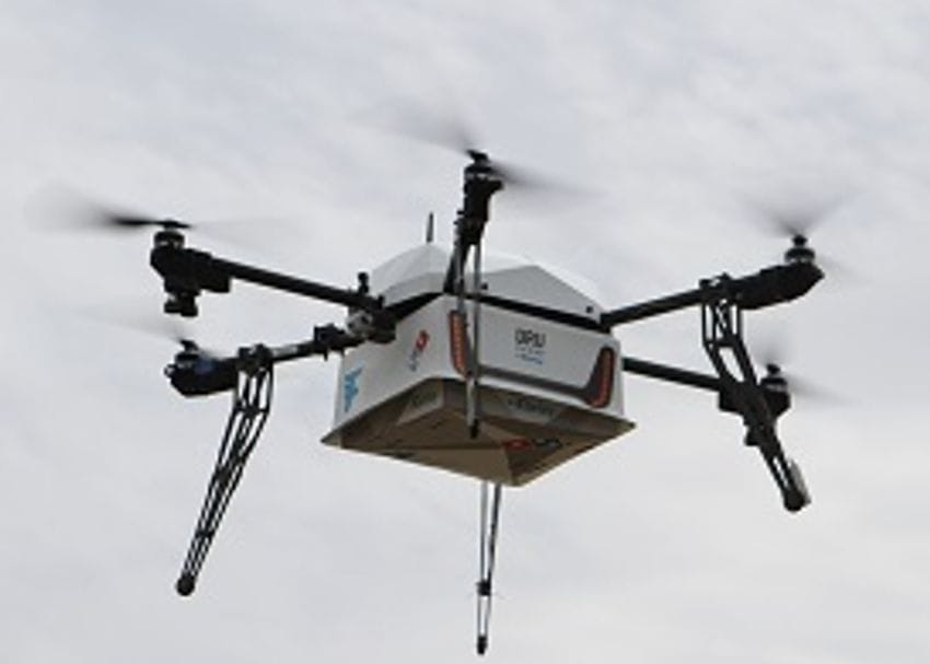 DOMINO'S MAKES FIRST DRONE PIZZA DELIVERY