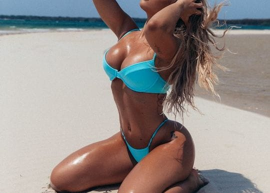 Life's a beach for Tammy Hembrow who just released her latest swimwear collection