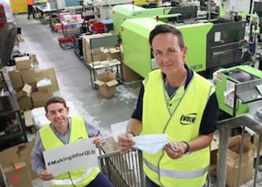 Queensland manufacturer Evolve pivots to mask making