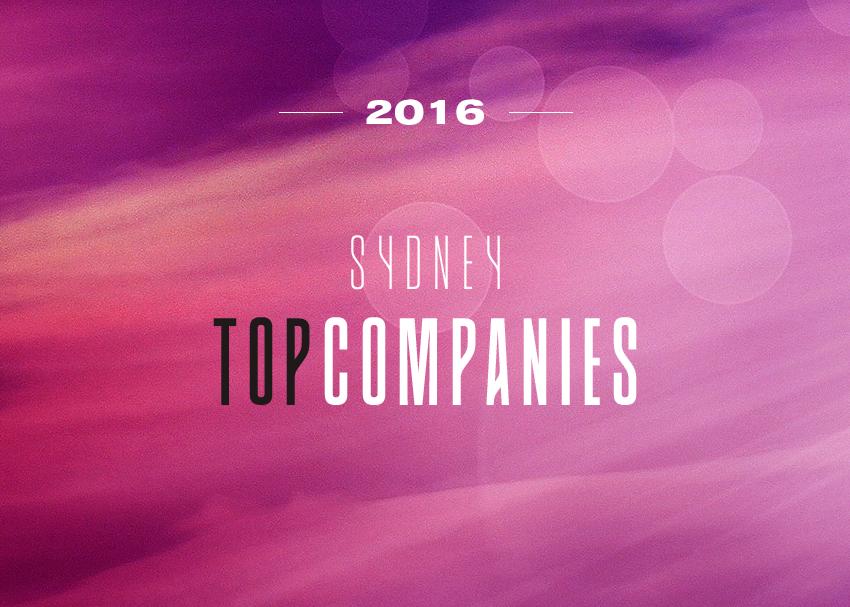 2016 SYDNEY TOP COMPANIES REVEALED