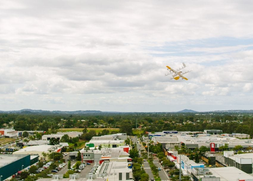 Google and Vicinity Centres' shopping centre drone delivery service takes off in Logan
