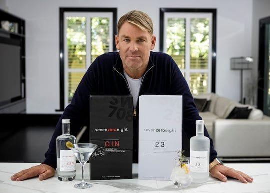 Howzat! Shane Warne takes out gold for gin brand SevenZeroEight