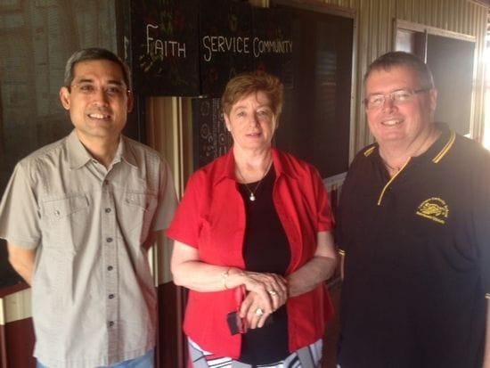 Br Ricky Laguda's visit to Balgo Hills