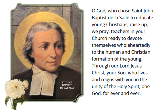 Prayer for Inspiration from De La Salle