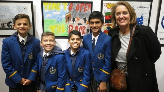 St Michael's College students excel in Art Contest for Refugee Week