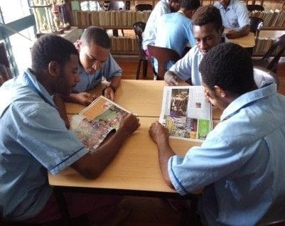 PNG Lasallians welcome furniture and book donations from Sydney schools