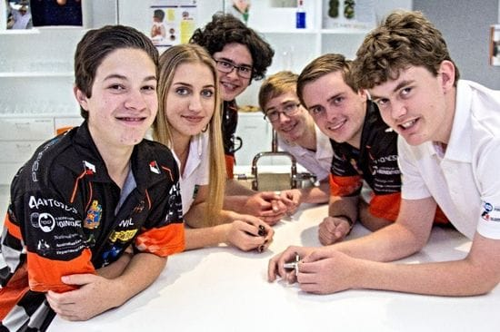 St Bedes students preparing for the F1 in Schools World Final