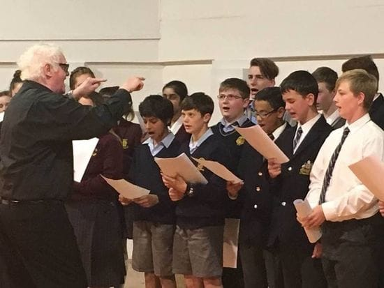 James Sheahan students' master class with Australia's top music educators