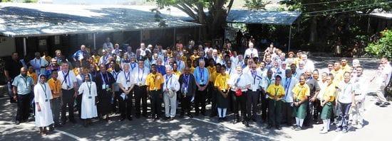 Bishops visit La Salle Technical College PNG