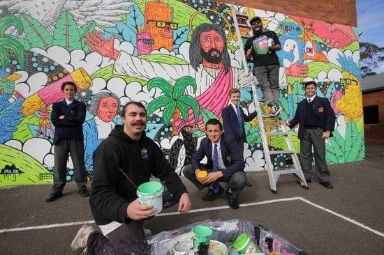Shire Leader features De La Salle Caringbah mural