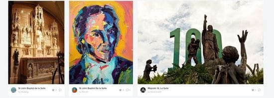 Artworks of St John Baptist de la Salle from around the world