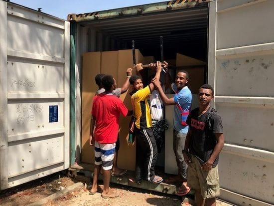 LMS Containers arrive in PNG