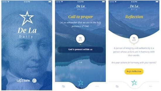 A world first - the De La Daily prayer app