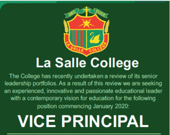 Job Opportunity: Vice Principal, La Salle College, Middle Swan