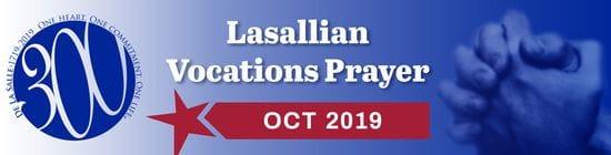 Lasallian Vocations Prayer October