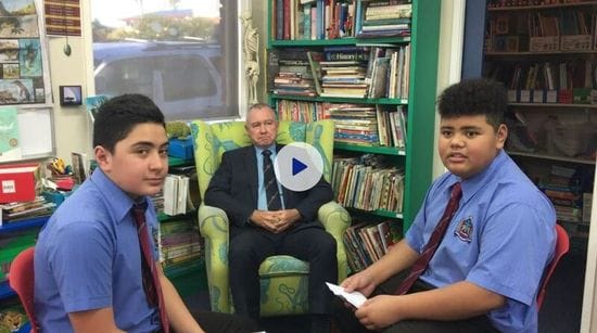 Students Interview Principal Myles Hogarty