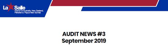 AUDIT NEWS #3 - September 2020