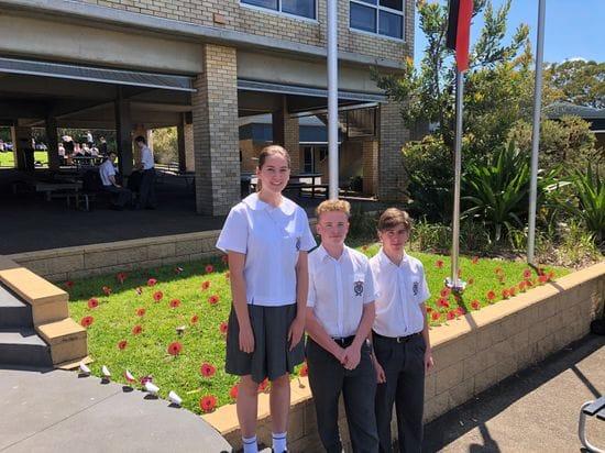 De La Salle Cronulla commemorate Remembrance Day