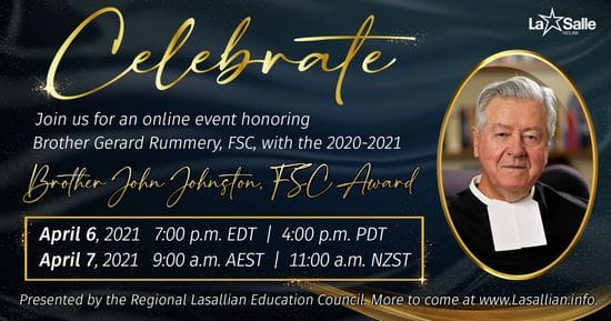 SEND YOUR CONGRATULATIONS TO BROTHER GERARD RUMMERY