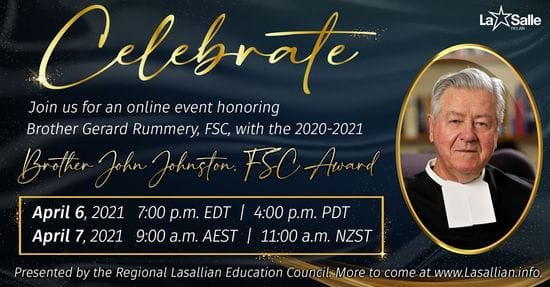 WATCH THE JOHNSTON AWARD CEREMONY HONORING BROTHER GERARD RUMMERY