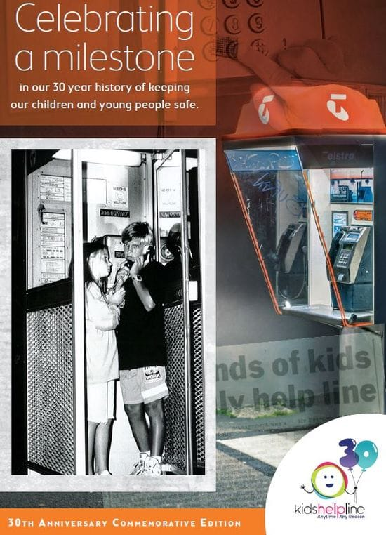 Kids Helpline 30 year history