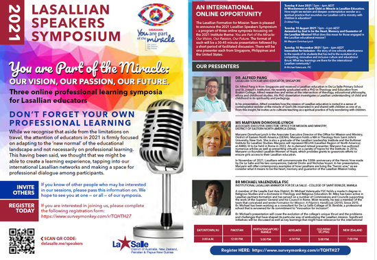 Registrations Open - Lasallian Speakers Series