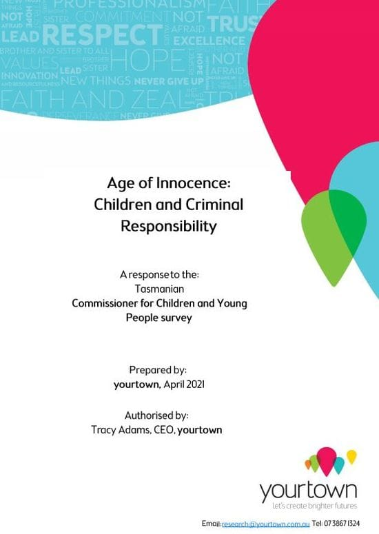 Age of Innocence - Children and Criminal Responsibility