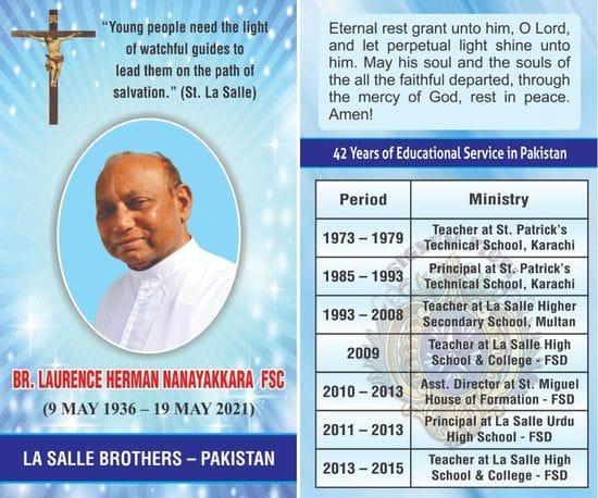 Eternal rest of Br Herman Nanaykara