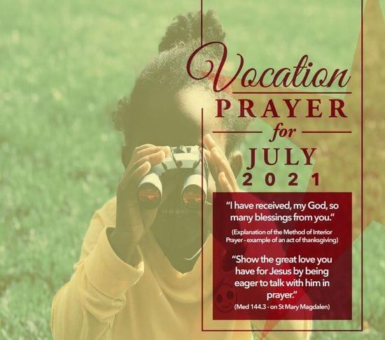 Vocations Prayer - July 2021