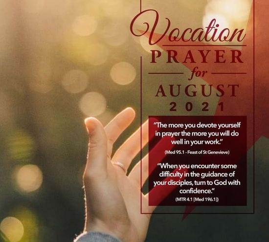 Vocations Prayer - August 2021