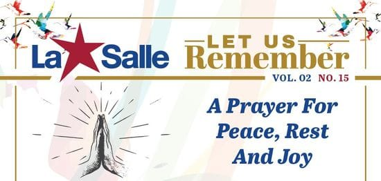 Resource: Let Us Remember - A Prayer for Peace, Rest and Joy