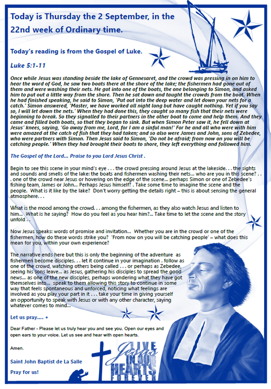 Daily Gospel Reading, a reflection and a prayer: THURSDAY 2/9/2021