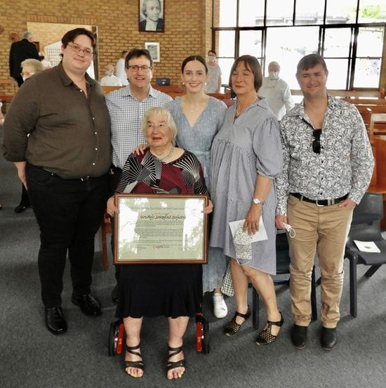 Brothers recognise Dot Schwenke's 50 years of commitment in Affiliation Ceremony