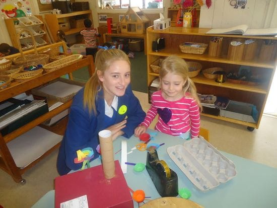 Loreto girls spending time with Harty Street children