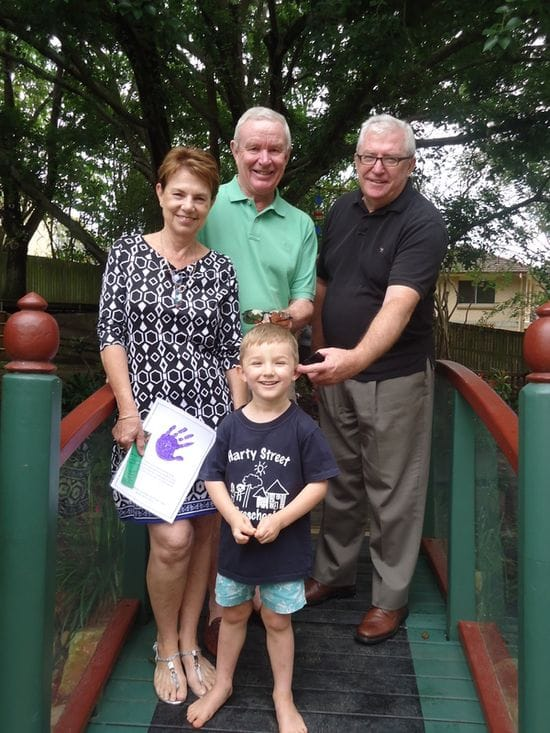 Grandparents and Special Visitors spend time at Harty Street