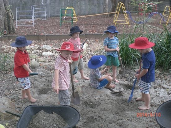 Hard at work in the digging patch at Harty Street