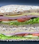 Double Smoked Ham Sandwich - Half  (made with Ham ,salad , in-house mayo and mature cheese)