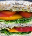 Posh Veggie Sandwich - Half (Roasted Pumpkin, Red Pepper, Pesto and Mayo)