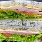 Gluten Free Ham Sandwich Full ( Double smoked Ham ,Vine Tomato,lettuce in house mayo ,mature cheese)