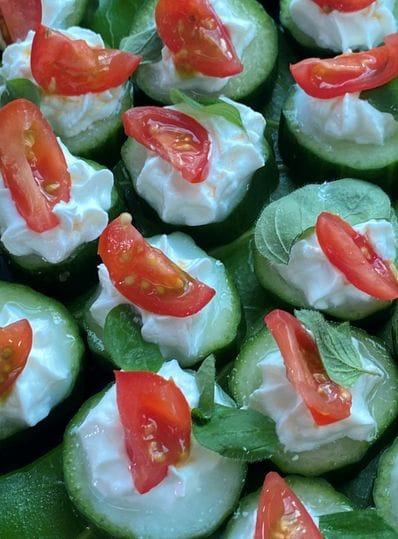 Cucumber Whipped Feta & Tomato