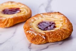 STRAWBERRY AND CUSTARD DANISH