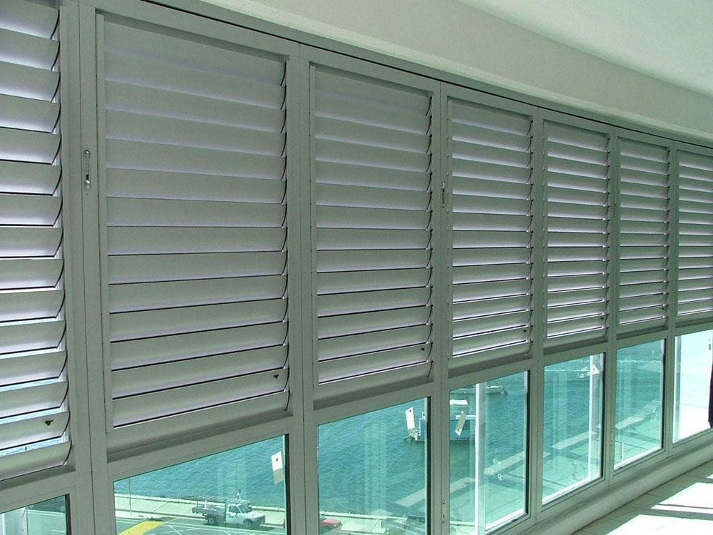 Aluminium Shutters for Outside Areas make any pergola or deck area look better, provide privacy and weather protection