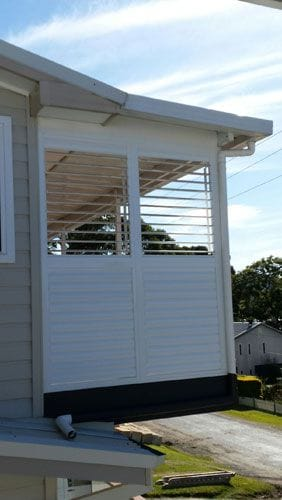 The Trinidad lourves provide privacy and they can be fixed or adjustable to control the light and heat throughout the day.