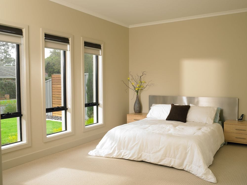 Dual Roller Blinds in Bedroom for day and night option